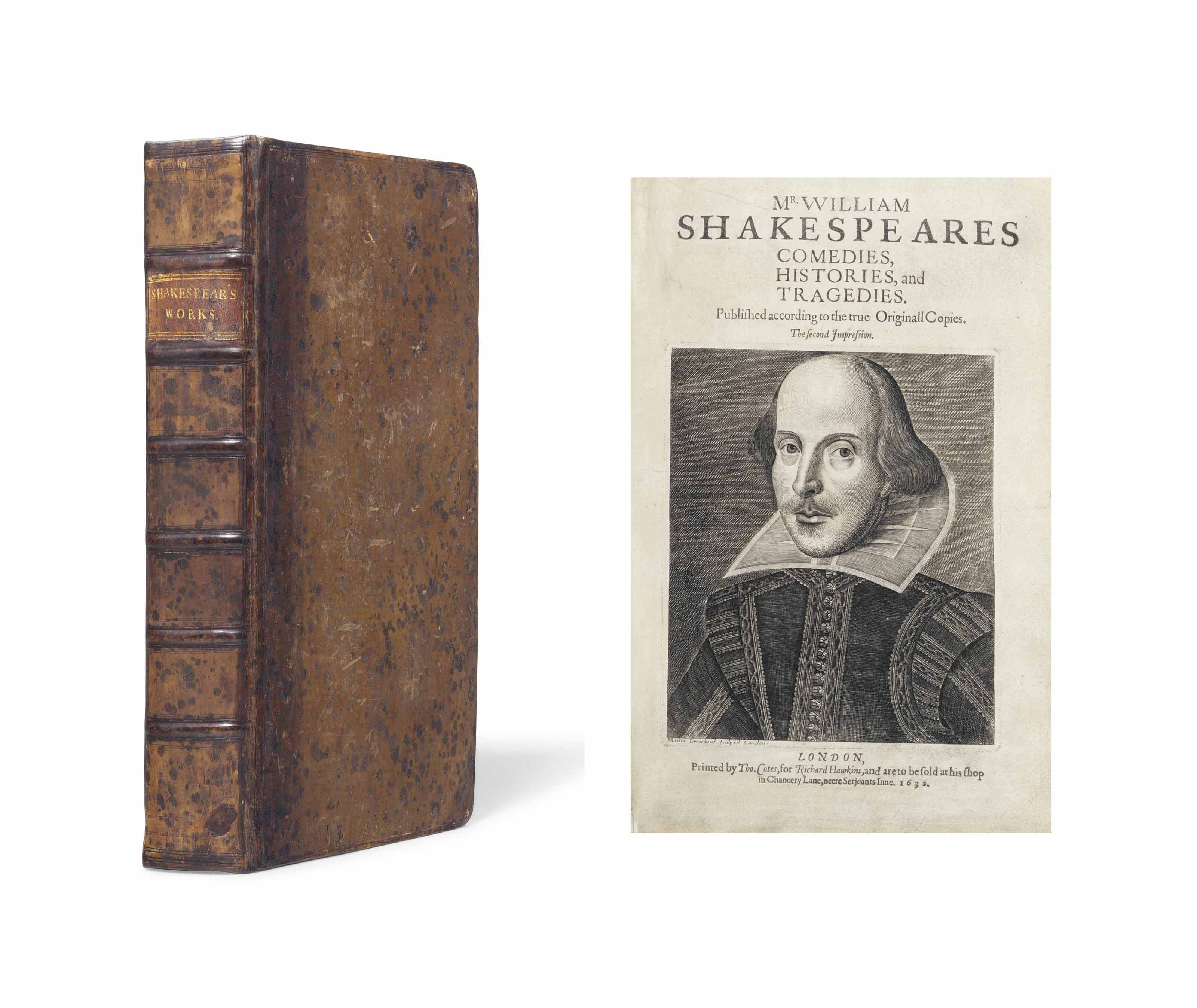 SHAKESPEARE, William (1564-1616). Comedies, Histories and Tragedies. Published according to the true Originall Copies. The second Impression. Edited by John Heminge (d. 1630) and Henry Condell (d. 1627). London: Printed by Thomas Cotes, for Robert Allot, 1632 [c. 1641].