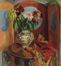 Chrysanthemums in a vase, Charleston