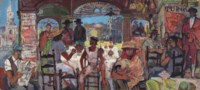 Bogotá Bar: Study for the Bank of London and South America murals