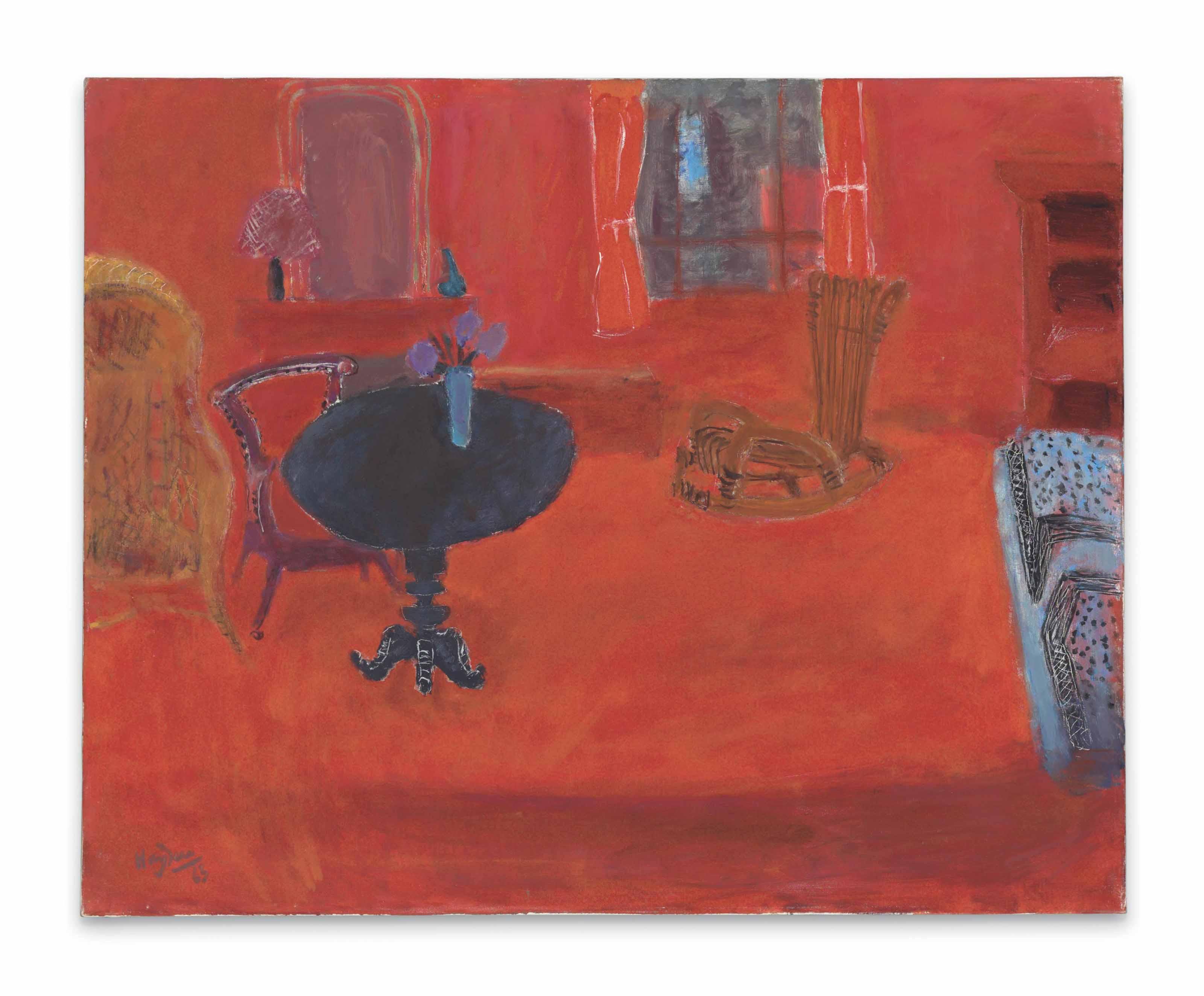 Interieur rouge