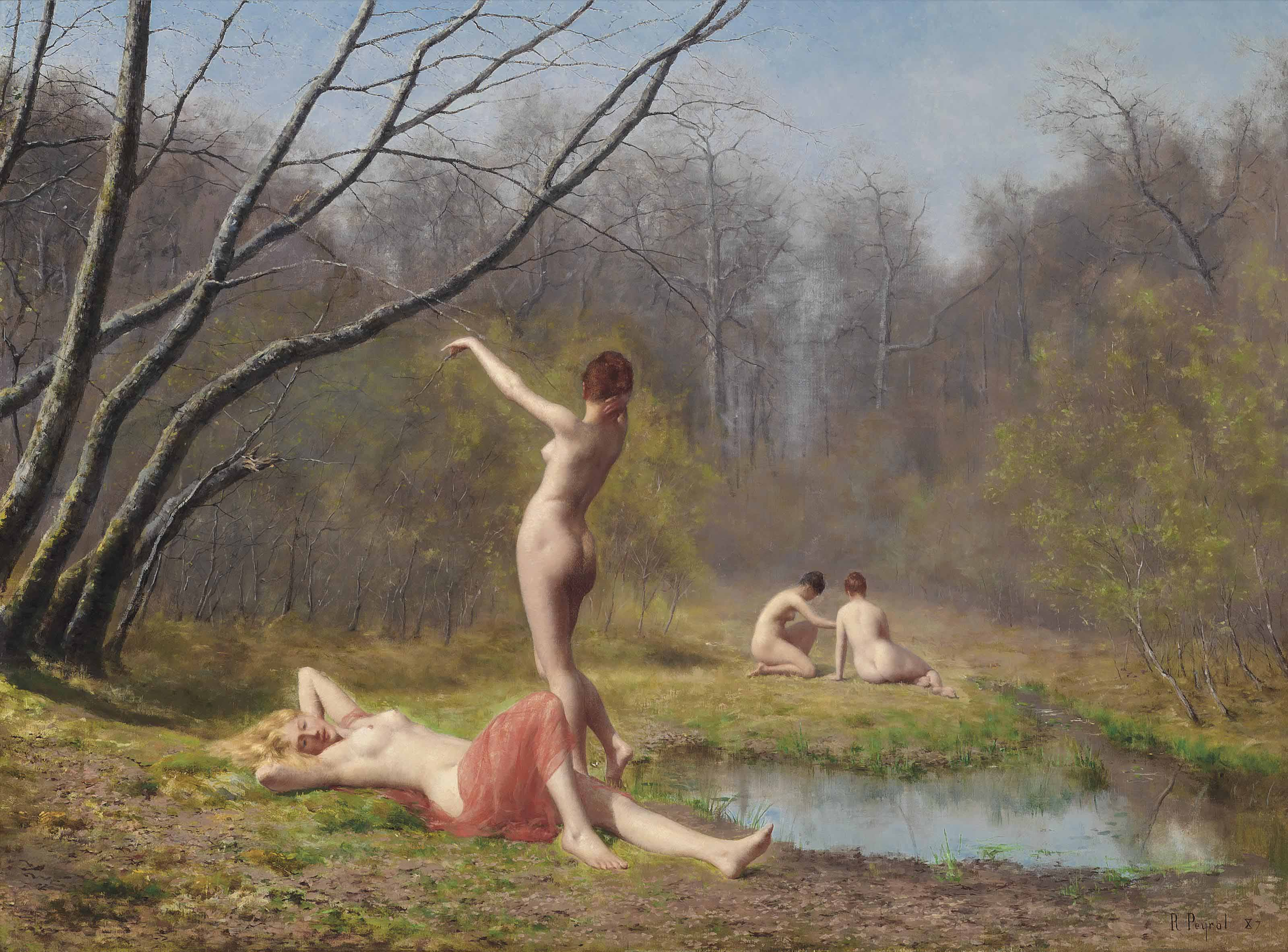 Bathers in the forest