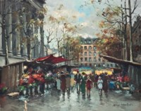 A busy market, Paris