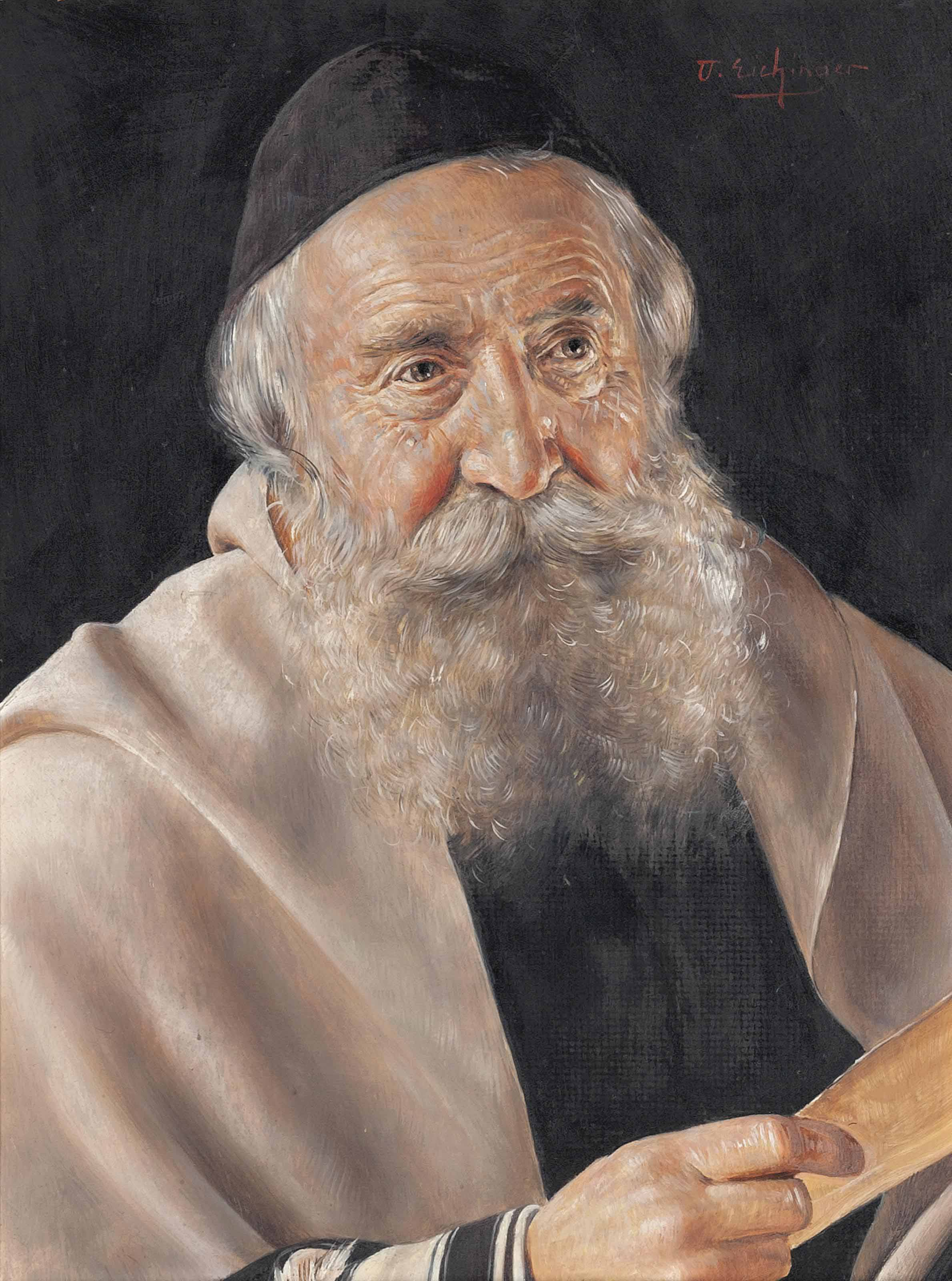 A Rabbi with a scroll