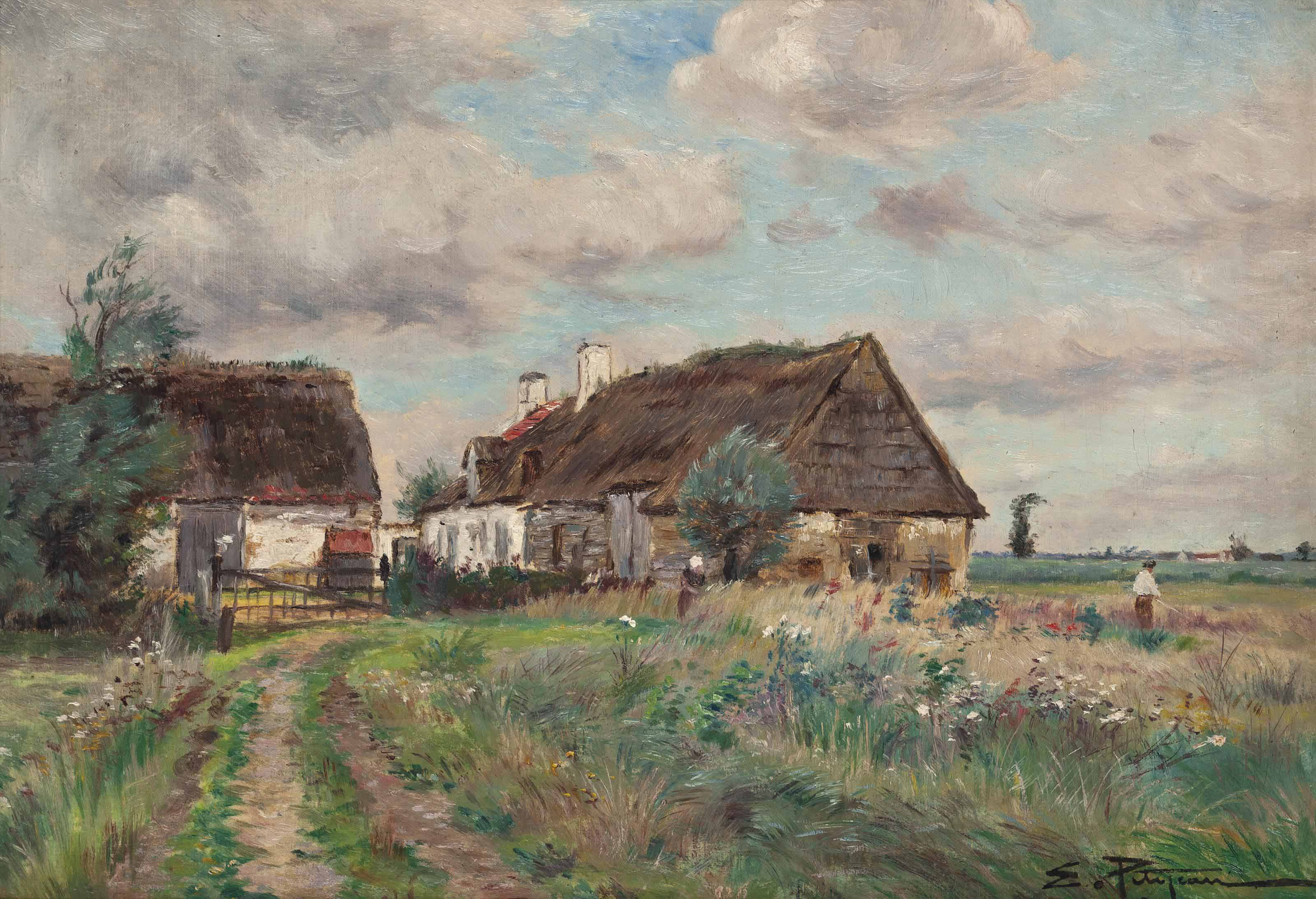 A cottage on a country track