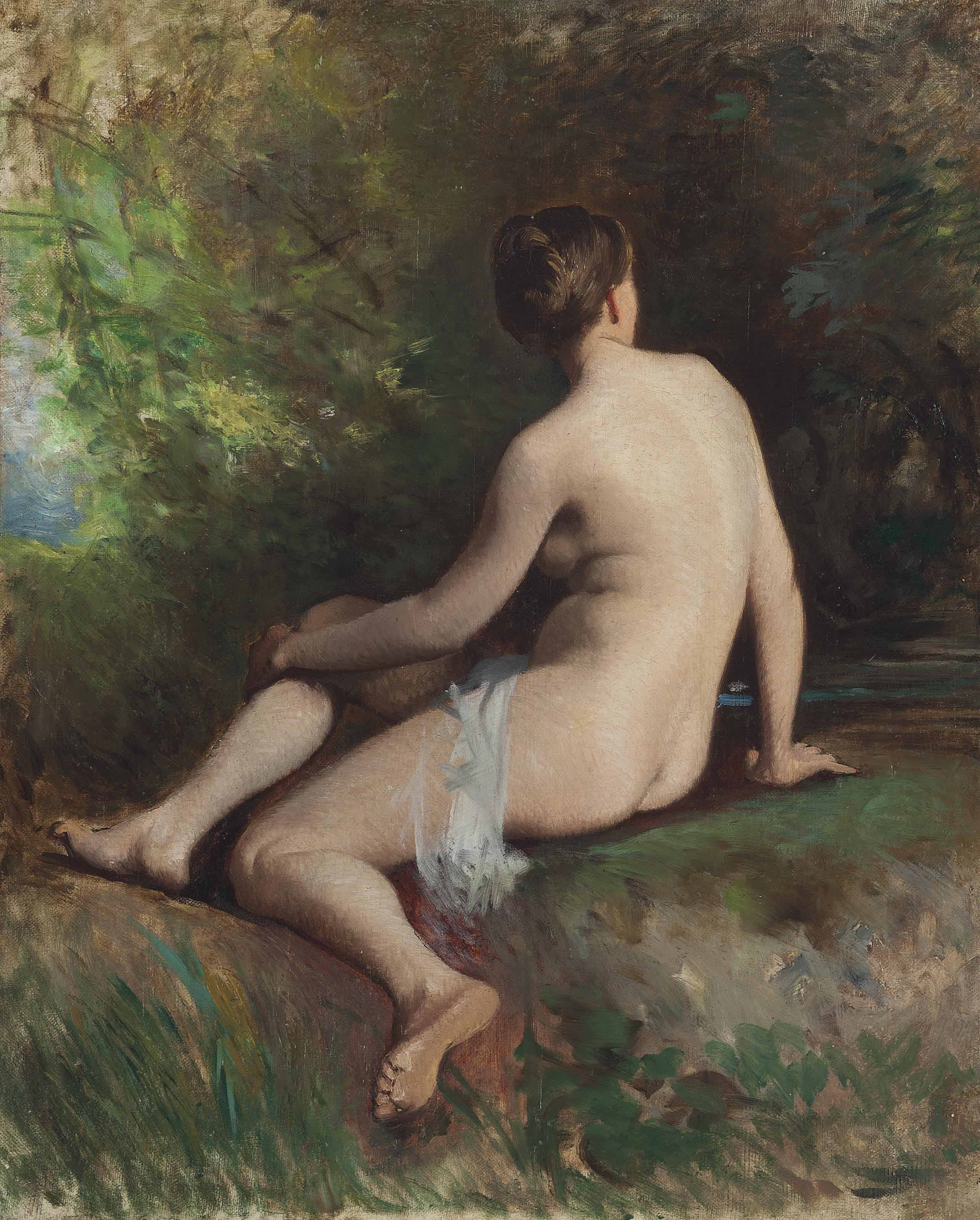 A nude in the forest