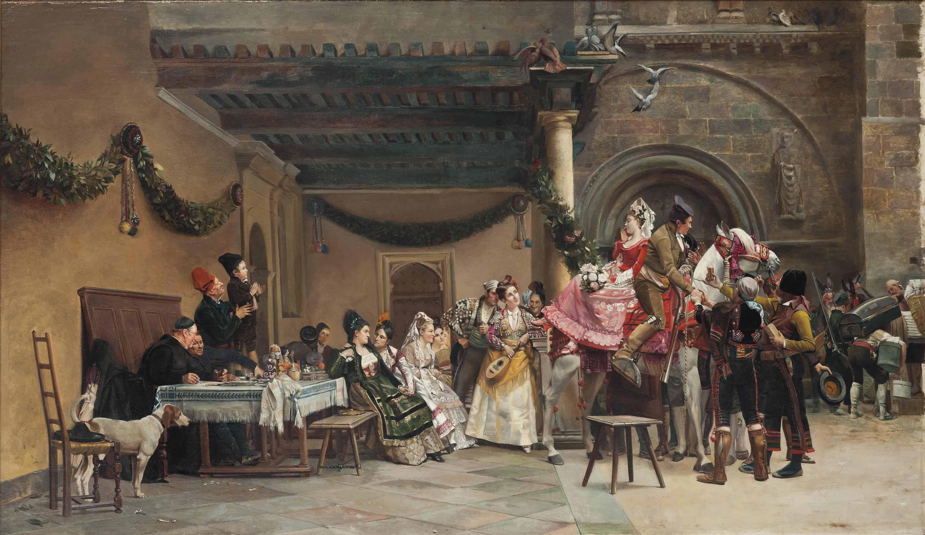 Le départ des mariés, Espagne