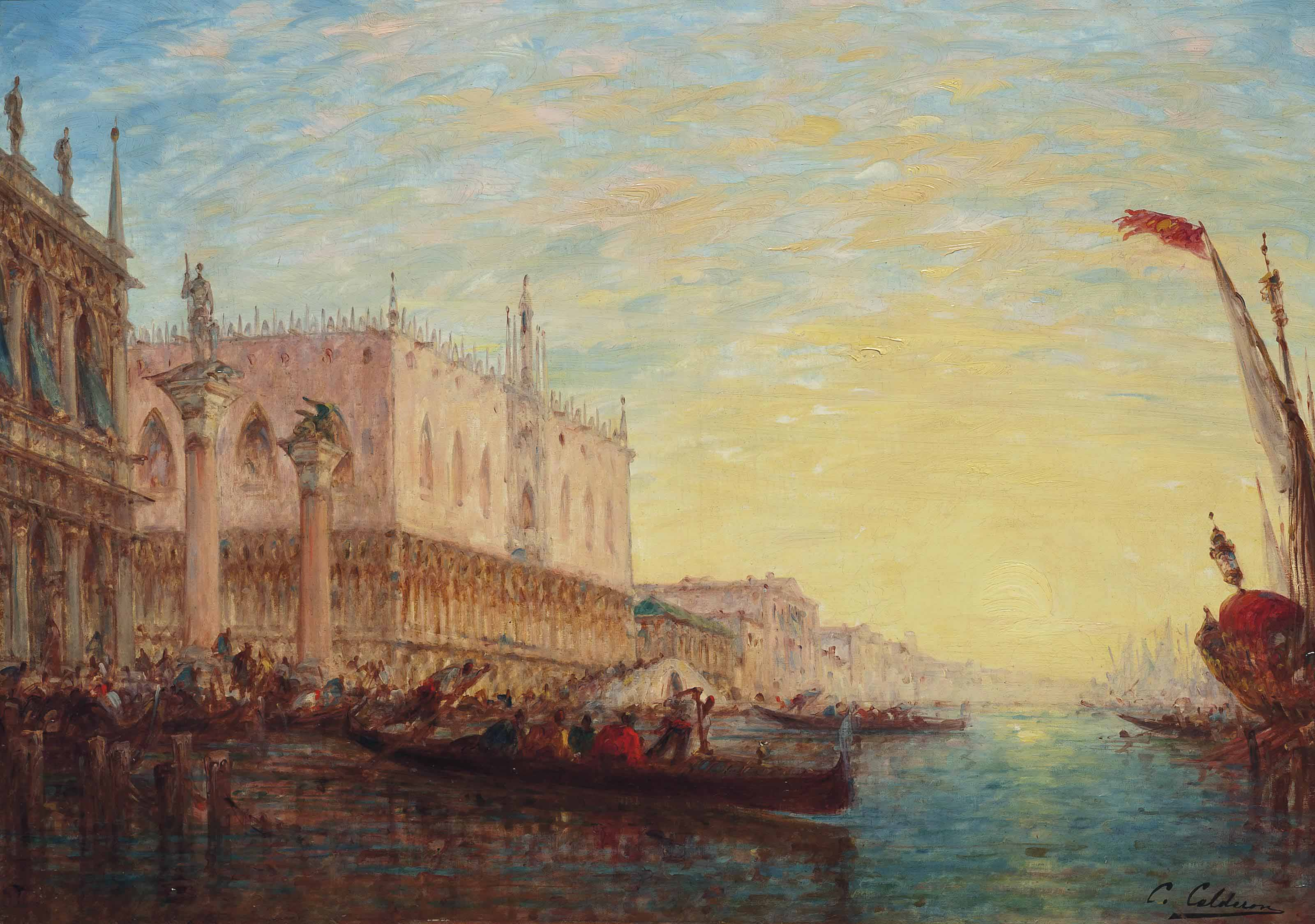 The Doge's Palace from the Grand Canal, Venice