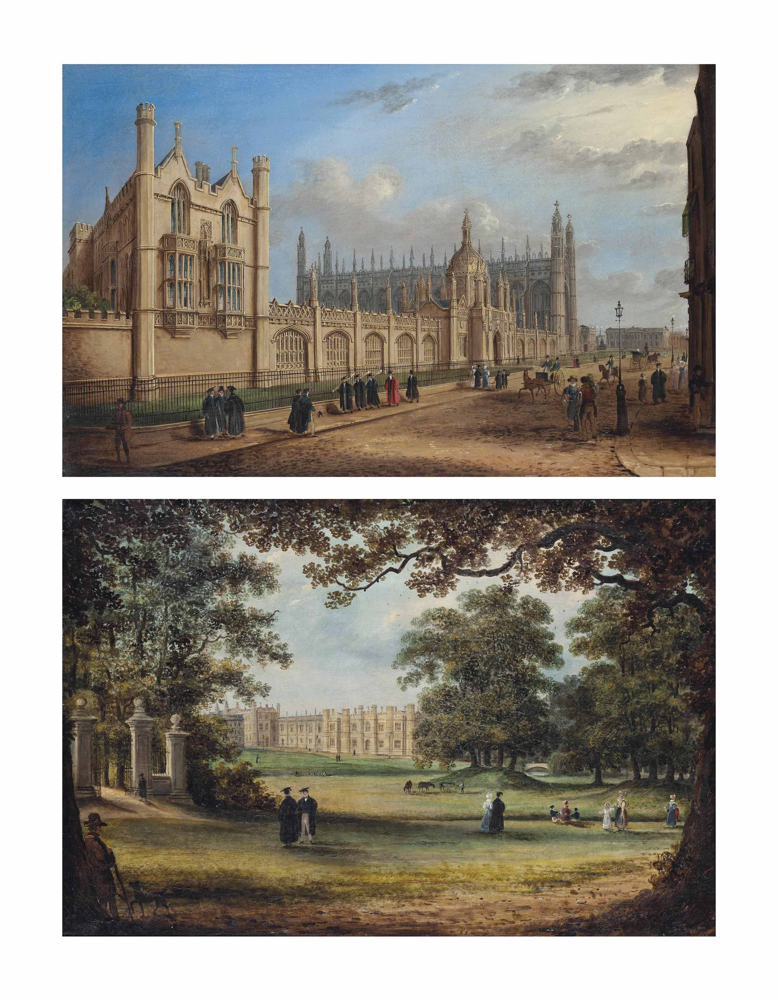 View of King's College, Cambridge; and View of the Provost's Lodge, King's College, Cambridge