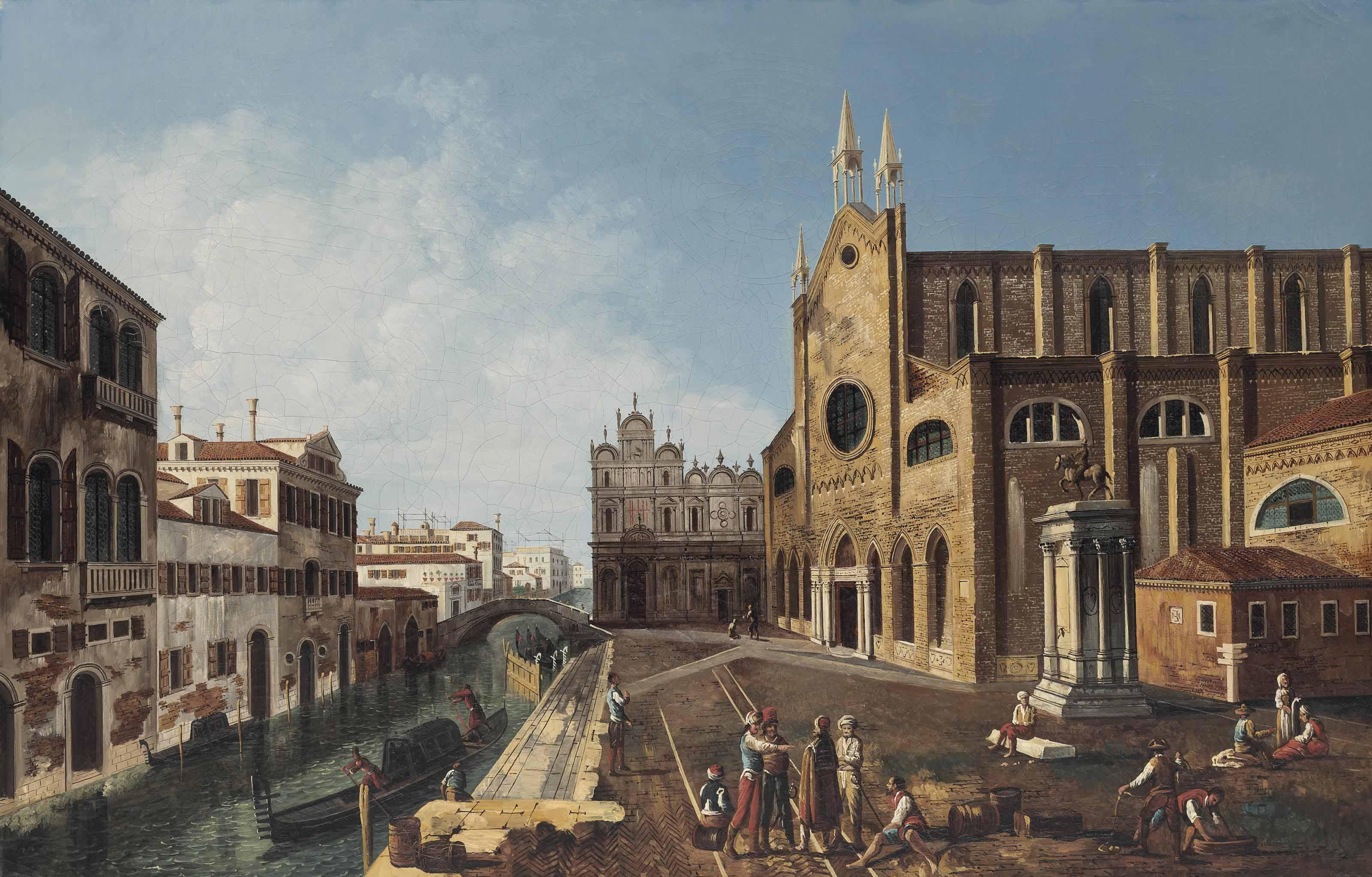 A view of Campo Santi Giovanni e Paolo, Venice