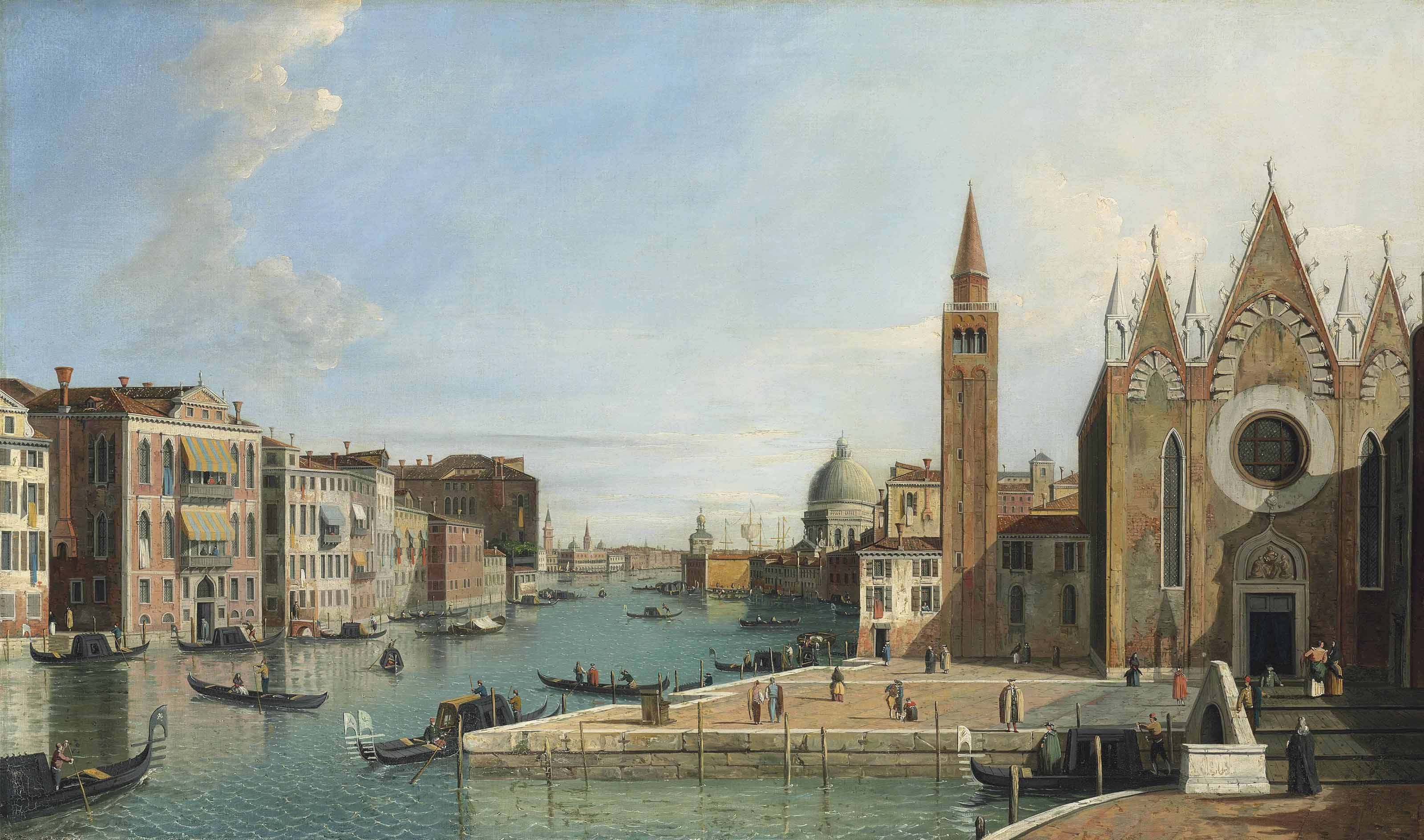 The Grand Canal, Venice, from Santa Maria della Carità, looking towards the Bacino di San Marco