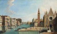 The Grand Canal, Venice, from Santa Maria della Carità, looking towards the Bacino di San Marco