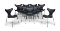 A MATCHED SET OF TWELVE ARNE JACOBSEN (1902-1971) SEAGULL CHAIRS