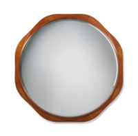 A LARGE MAURICE DUFRENE (1876-1955) CHERRY AND BURR WALNUT MIRROR