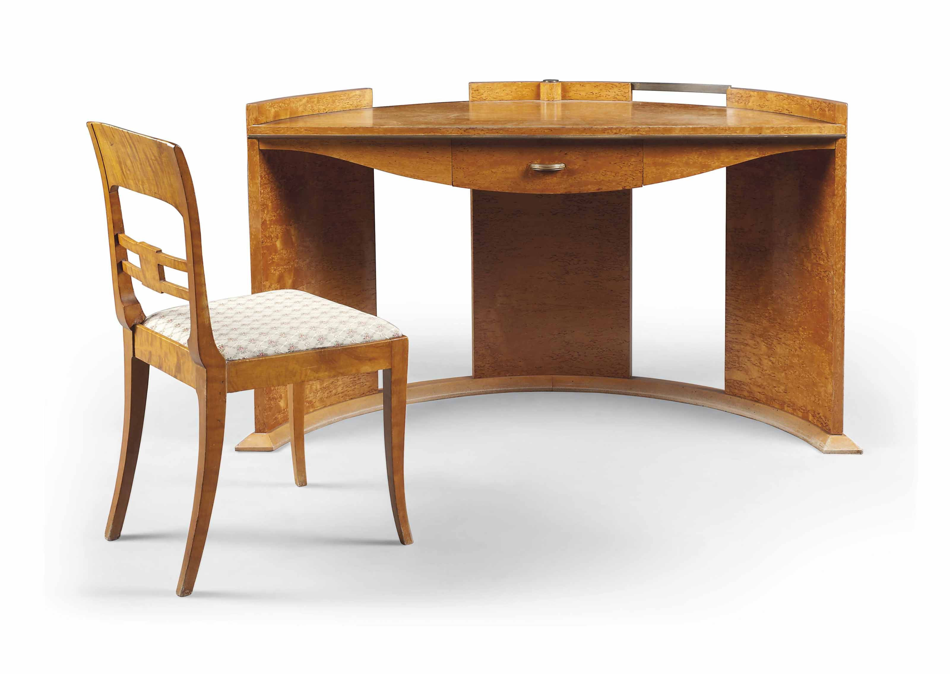 Incredible An Art Deco Maple And Spalted Birds Eye Maple Desk With Uwap Interior Chair Design Uwaporg