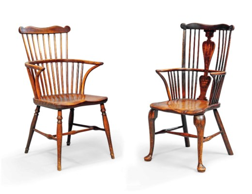 A GEORGE III CHERRY AND ELM CA