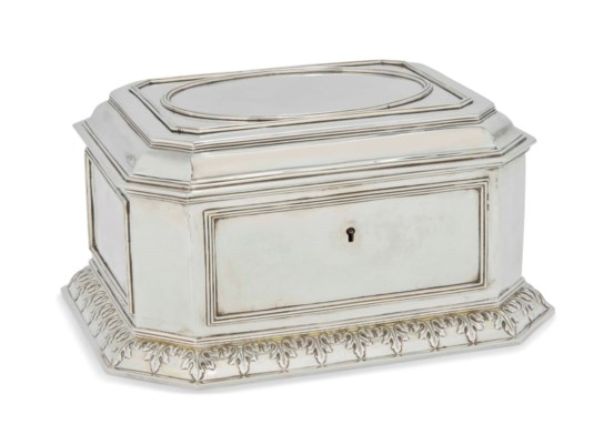 A GEORGE IV SILVER HUMIDOR