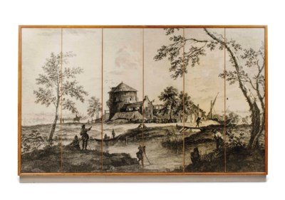 AN ITALIAN ASH AND LITHOGRAPHI