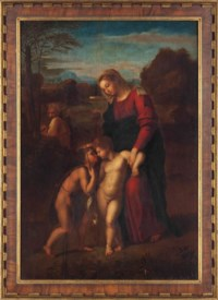 The Holy Family Meeting the Infant St John the Baptist ('The Madonna del Passeggio')