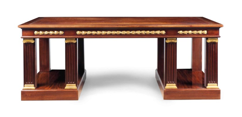 A LARGE FRENCH MAHOGANY AND OR