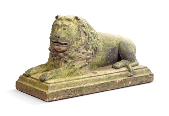 AN ENGLISH CARVED STONE MODEL