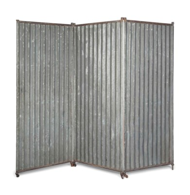 A CORRUGATED IRON THREE-PANEL