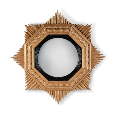 A PAIR OF GILTWOOD 'STAR' CONV