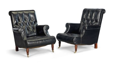 A PAIR OF BLACK LEATHER EASY A