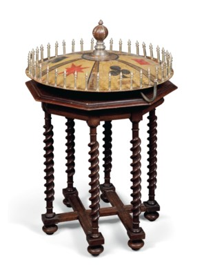 AN EARLY ROULETTE WHEEL