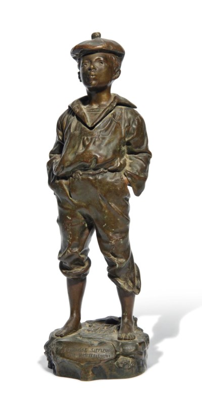 A FRENCH BRONZE FIGURE OF A BO