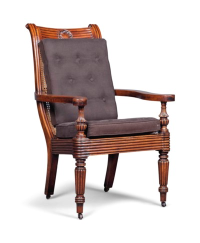 AN ANGLO-INDIAN MAHOGANY OPEN