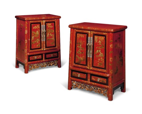 A PAIR OF CHINESE GILT-METAL M