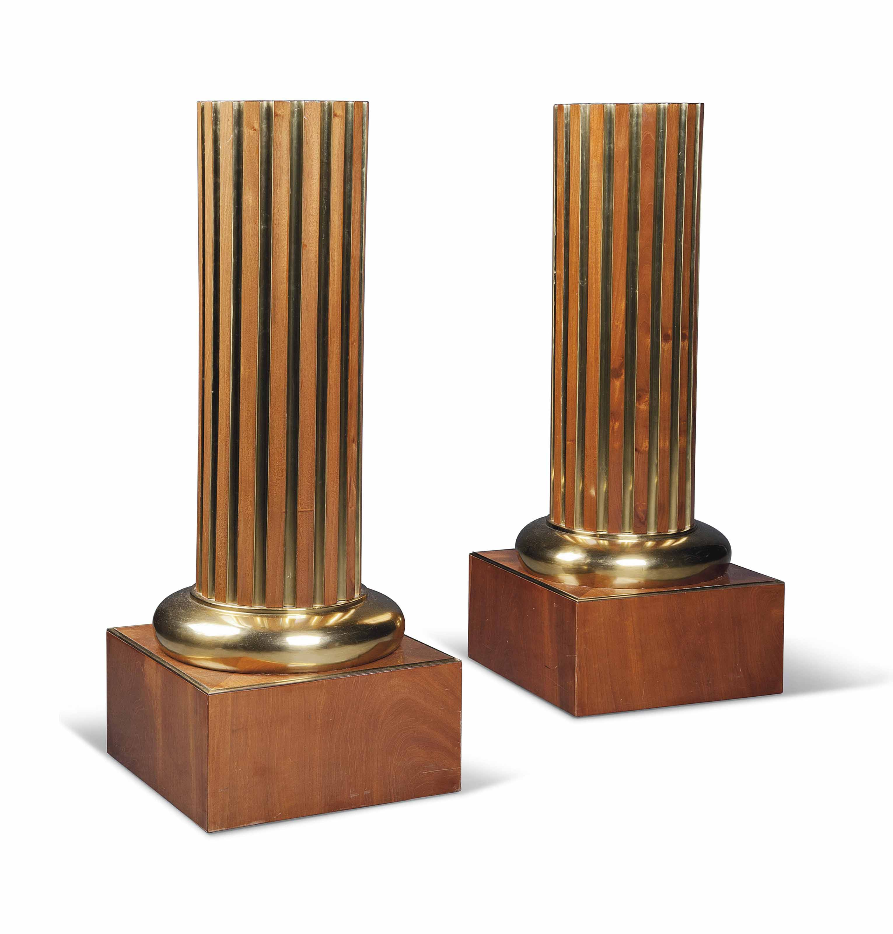 A PAIR OF BALTIC BRASS-MOUNTED