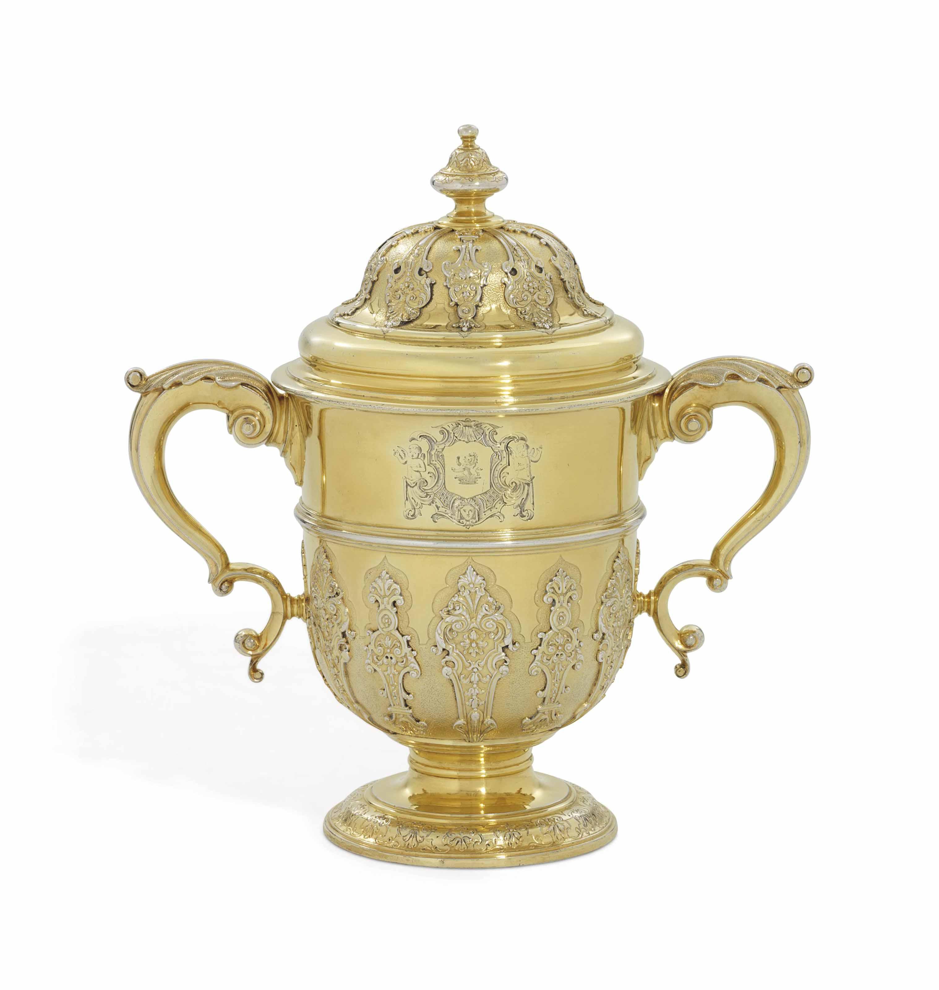 A GEORGE II SILVER-GILT CUP AN
