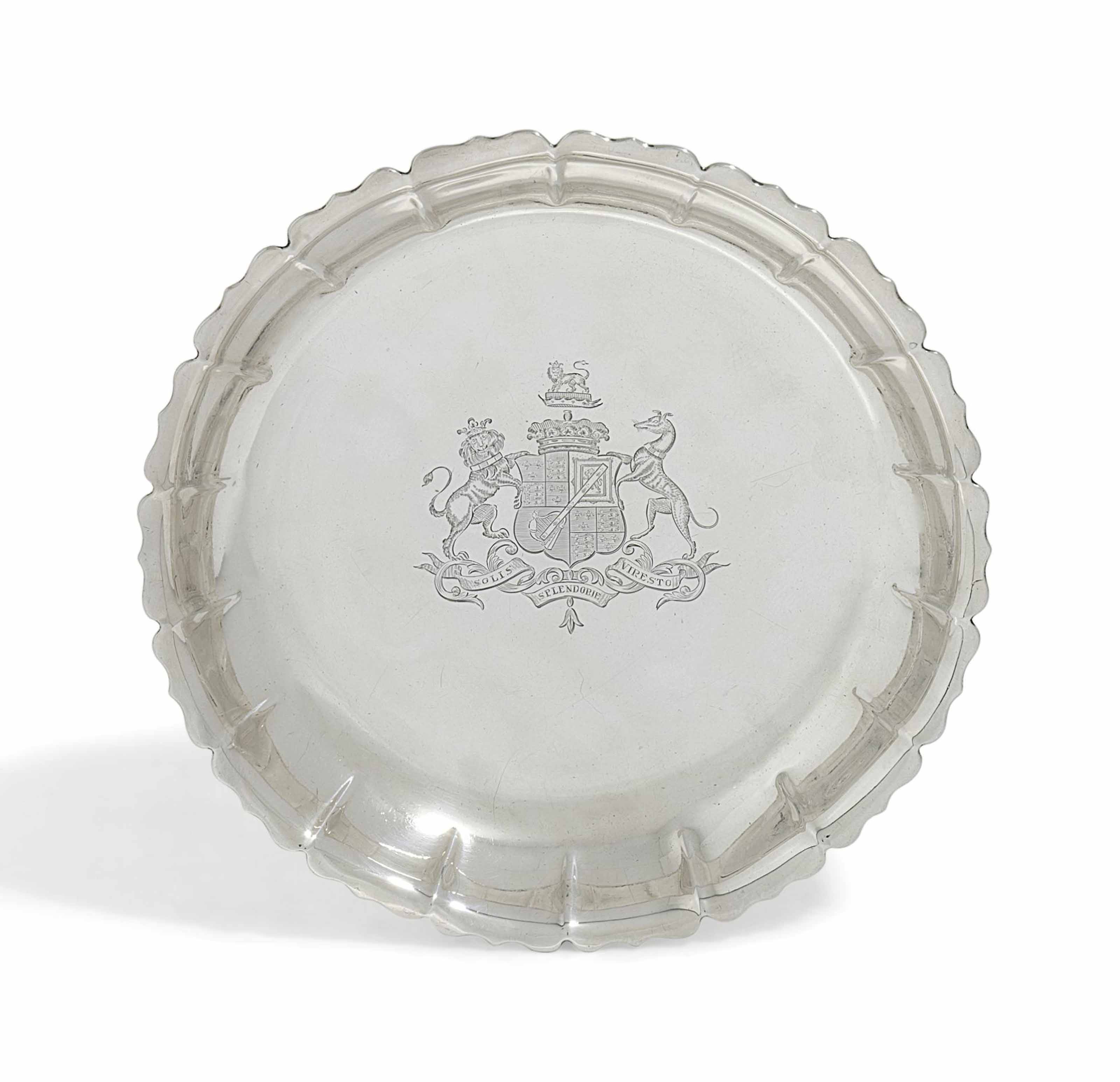 A GEORGE II SILVER STRAWBERRY OR EPERGNE-DISH