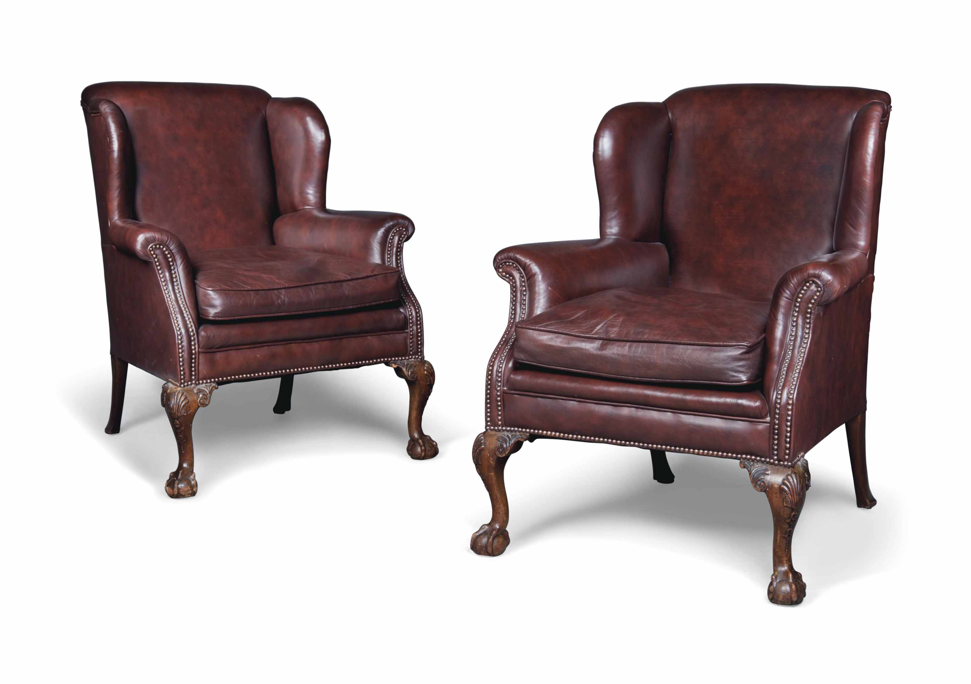 A PAIR OF QUEEN ANNE-STYLE MAH
