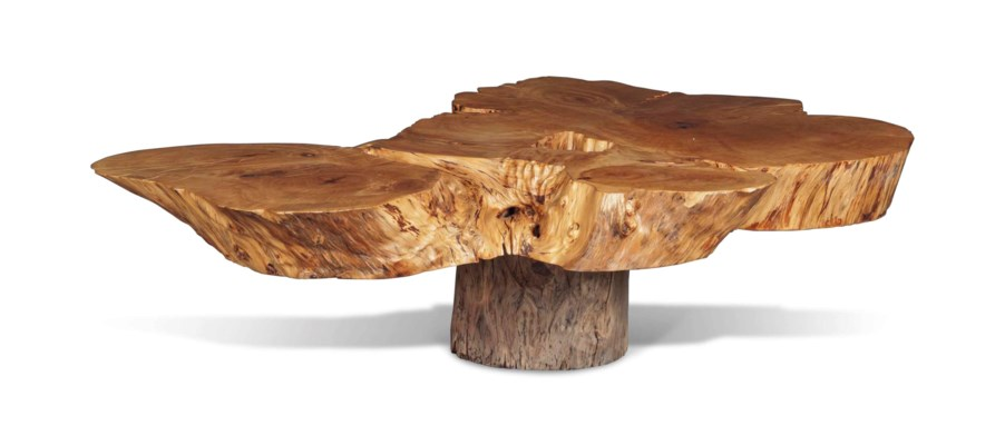 A HARDWOOD COFFEE TABLE