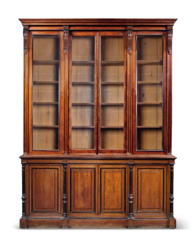 A LARGE LATE VICTORIAN OAK AND