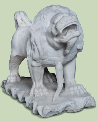 CHINESE WHITE MARBLE MODEL OF