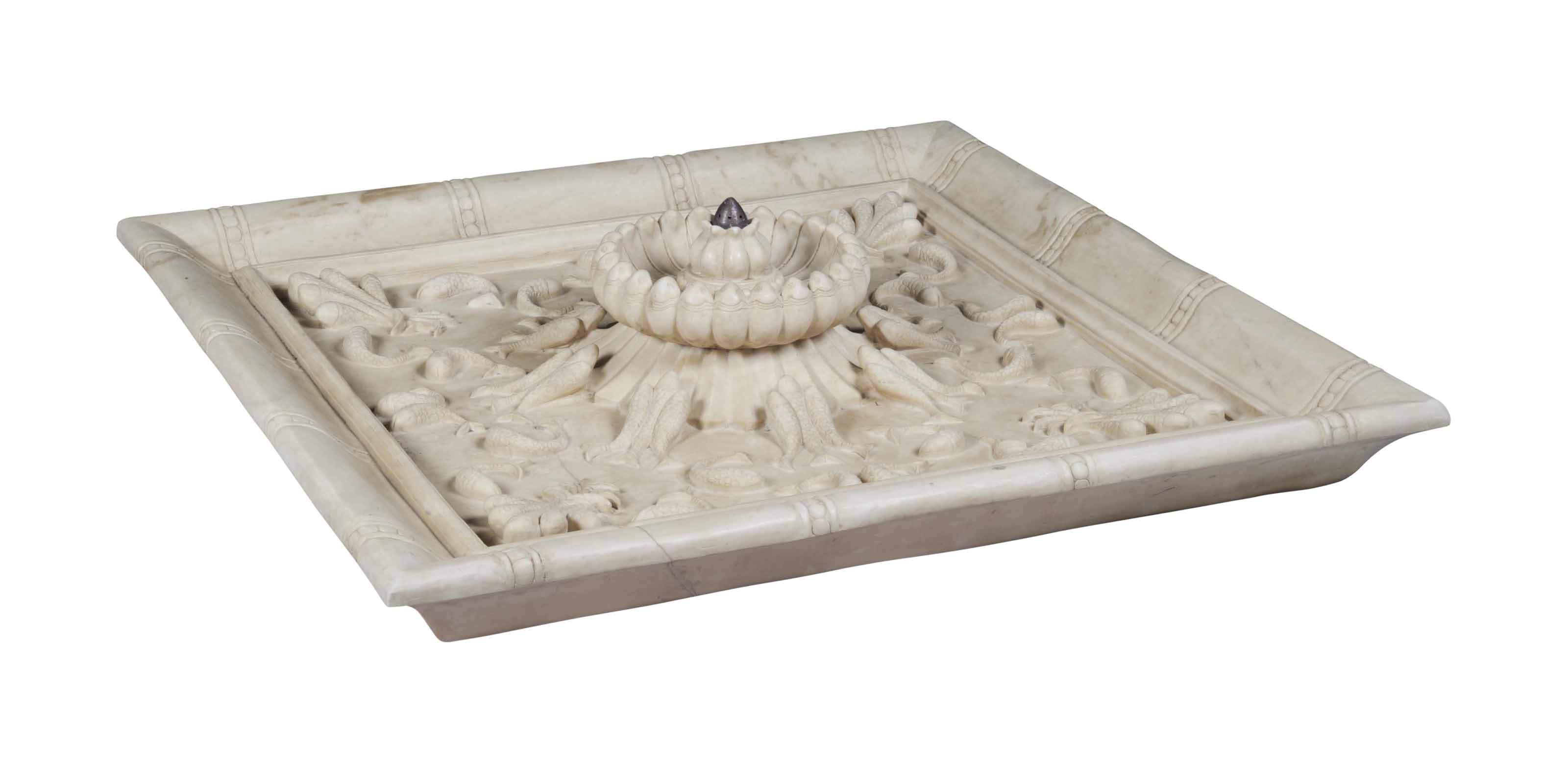 AN INDIAN MARBLE FOUNTAIN