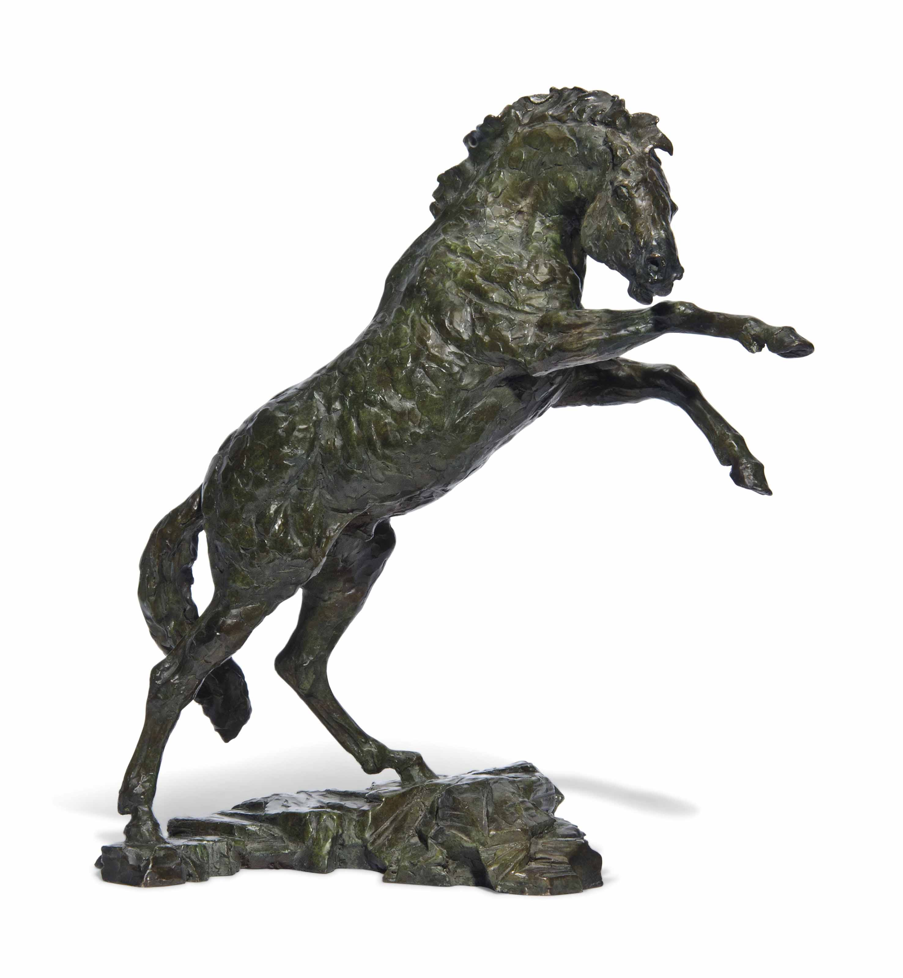A ENGLISH BRONZE MAQUETTE FOR