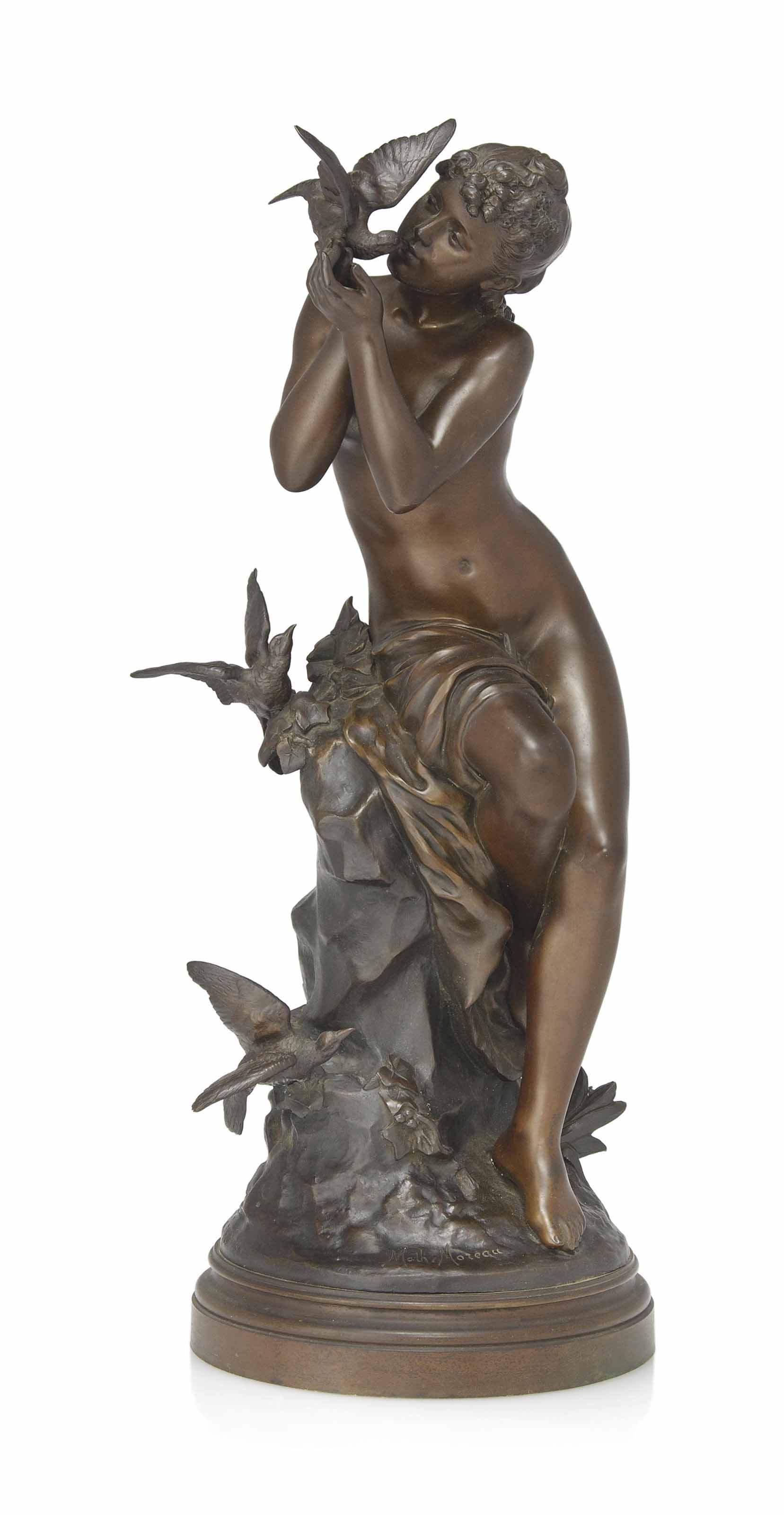 A FRENCH BRONZE FIGURE OF A YO