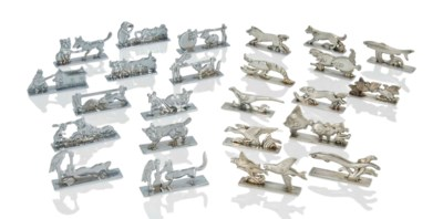 TWO SETS OF PLATED 'ANIMAL' KN