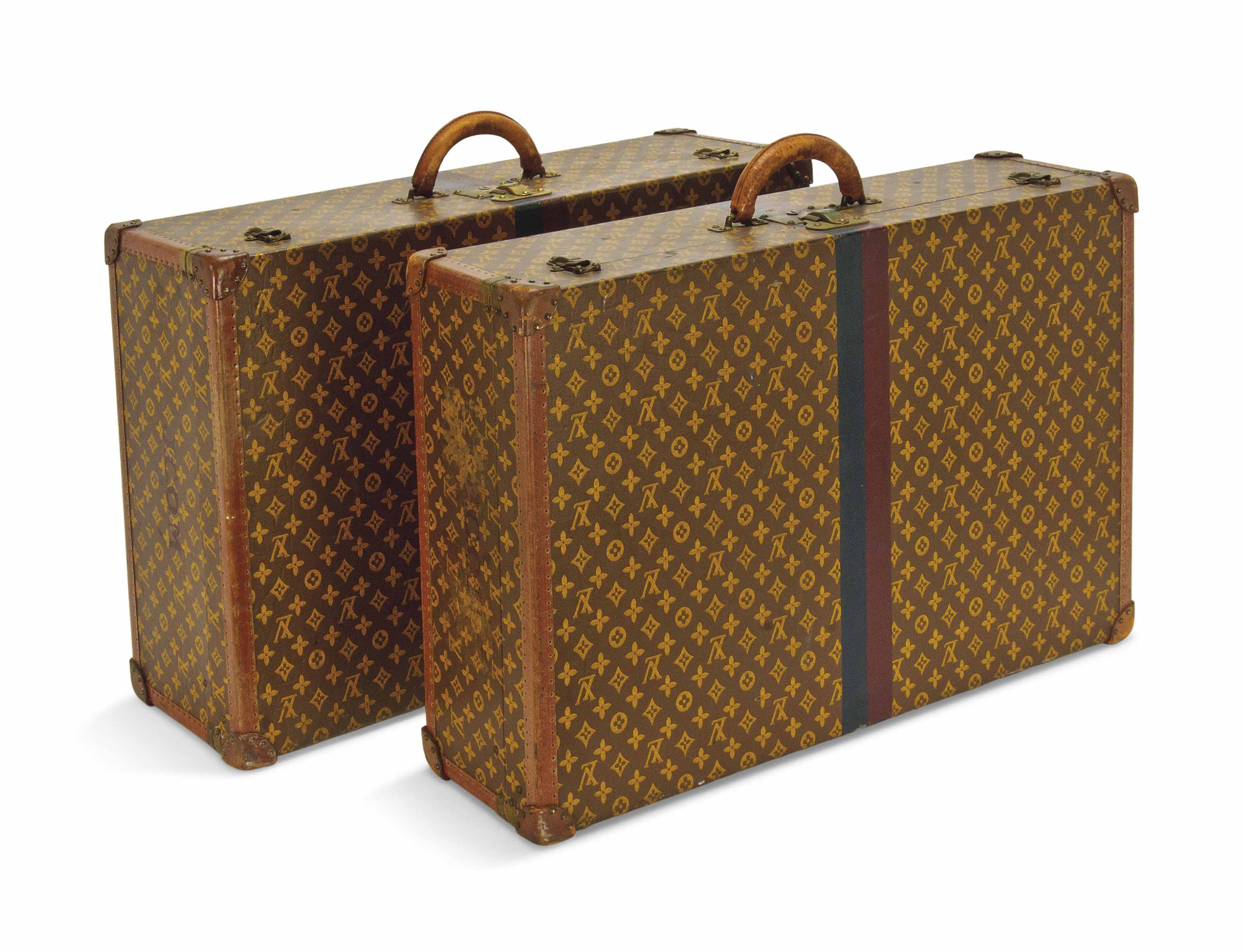 TWO SUITCASES IN MONOGRAM CANV