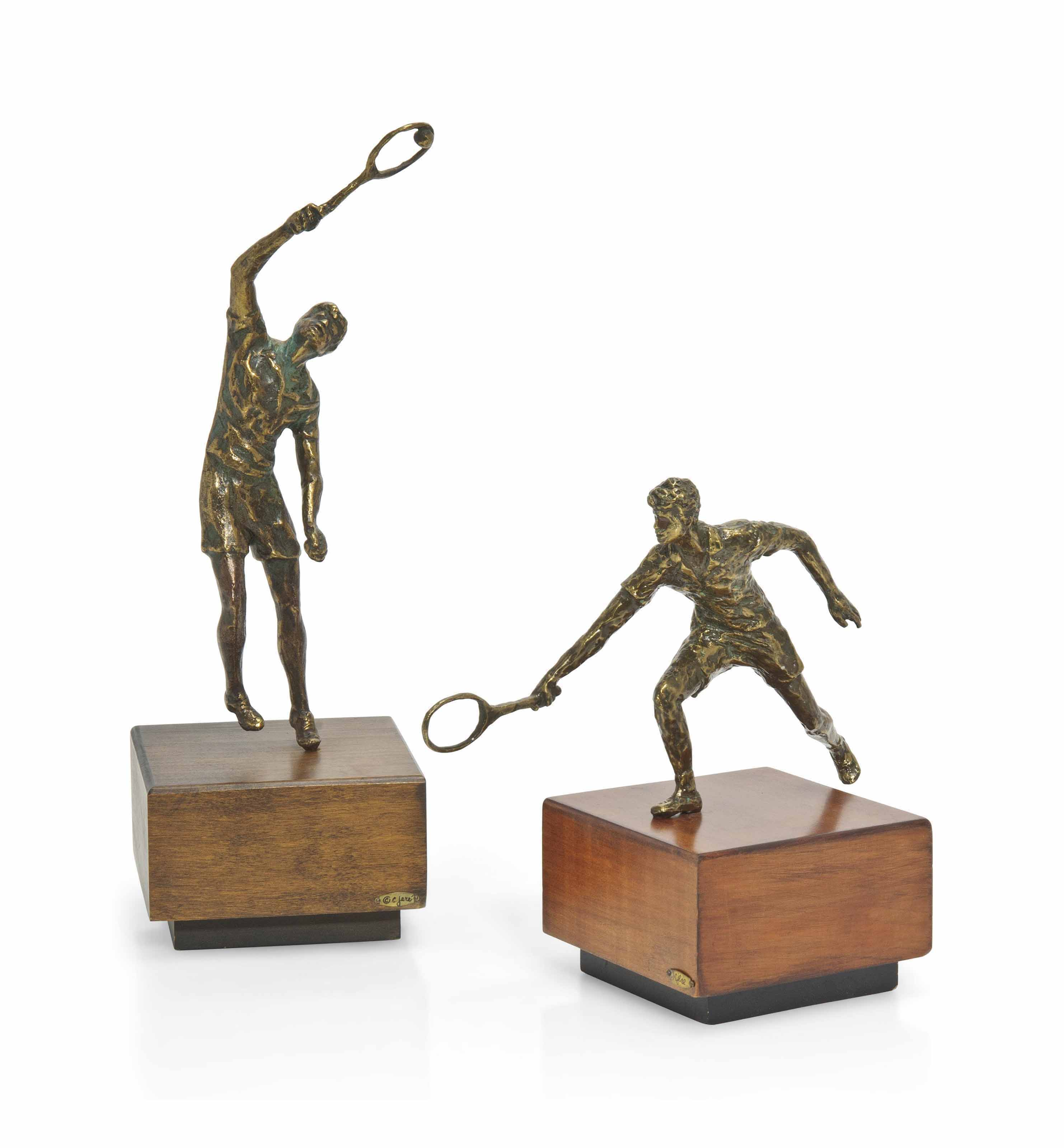 TWO CURTIS JERE PATINATED-BRON