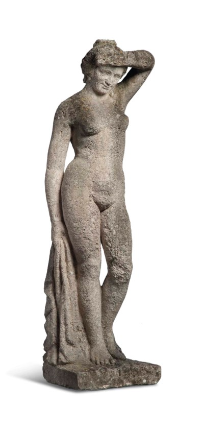 A LIMESTONE CARVED CLASSICAL G
