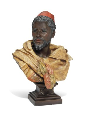A COLD-PAINTED SPELTER MODEL O