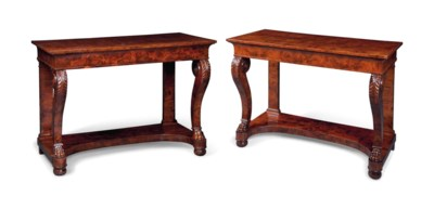 A PAIR OF GEORGE IV YEW SIDE T