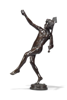 A FRENCH BRONZE FIGURE OF 'UNE