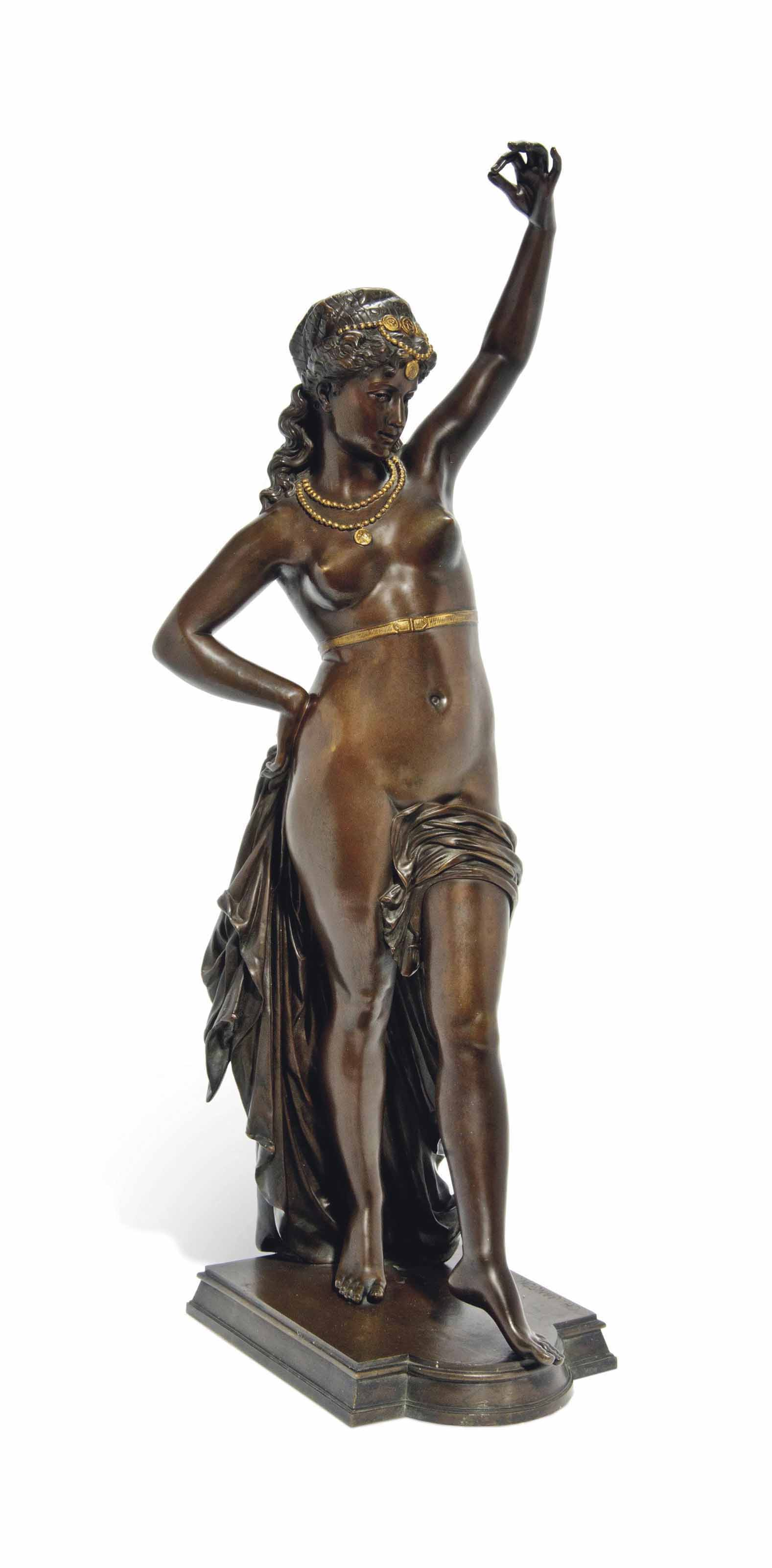 A FRENCH BRONZE FIGURE OF A HA