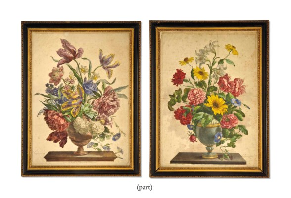 SEVEN COLOURED ENGRAVINGS OF F